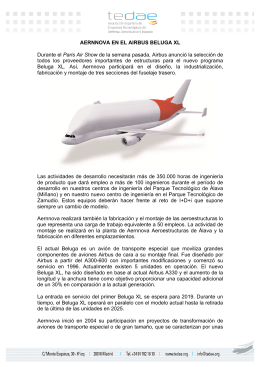 AERNNOVA EN EL AIRBUS BELUGA XL Durante el