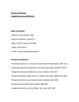 File - Viviana Martínez Licenciada en Artes