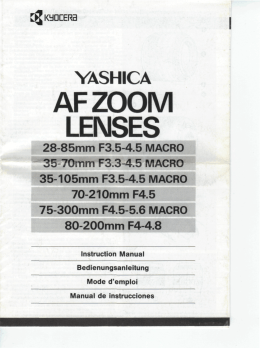 AFZOOM LENSES