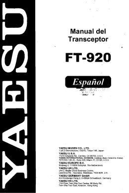 Manual del Transceptor