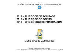 Men`s Artistic Gymnastics
