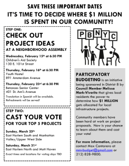 CAST YOUR VOTE CHECK OUT PROJECT IDEAS