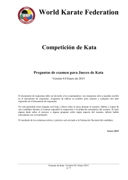 Examen Kata - World Karate Federation