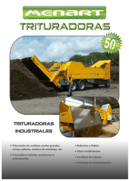• Trituración de residuos verdes grandes ramas, paletas