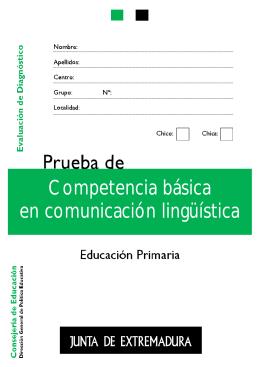 primaria. competencia en comunicación