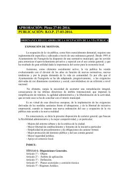 de la vía pública - Ayuntamiento de Fuengirola