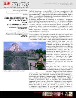 06. arte precolombino, moderno y latinoamericano