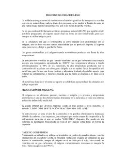 PROCESO DE OXIACETILENO La soldadura con gas