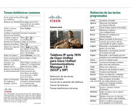 Definición de las teclas programadas Tareas telefónicas comunes