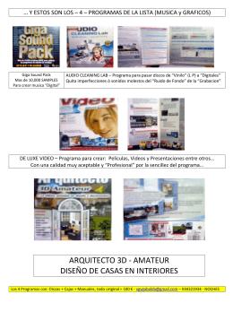 ARQUITECTO 3D - AMATEUR DISEÑO DE CASAS EN INTERIORES