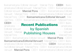 Recent Publications by Spanish Publishing Houses