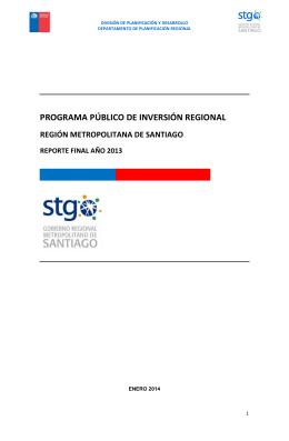 PROPIR anual 2013 - Gobierno Regional Metropolitano