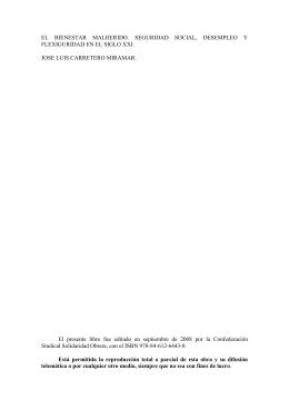 EL BIENESTAR MALHERIDO. SEGURIDAD SOCIAL, DESEMPLEO