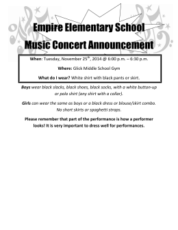 Empire Elementary School Music Concert Announcement