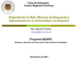 Minería de la Web - Universidad Nacional de Luján