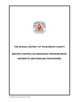 MCIP Claims Manual - the School District of Palm Beach County