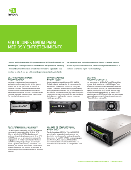 NVIDIA Media and Entertainment Graphics Solutions | Line Card