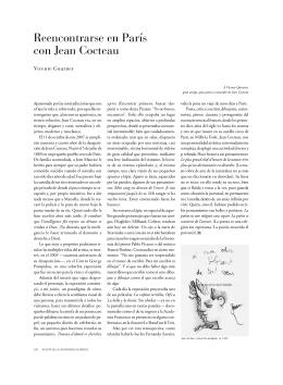 Reencontrarse en París con Jean Cocteau