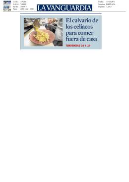 Revista de Prensa - Celíacs de Catalunya