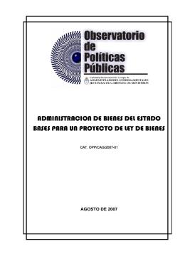 ADMINISTRACION DE BIENES DEL ESTADO BASES PARA UN