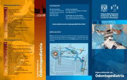 Odontopediatría - Facultad de Odontología