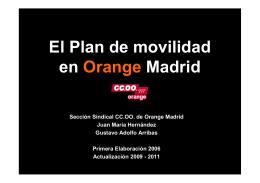 Plan de movilidad en Orange Madrid 08112011 [Modo de