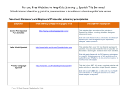 Fun and Free Websites to Keep Kids Listening to Spanish This