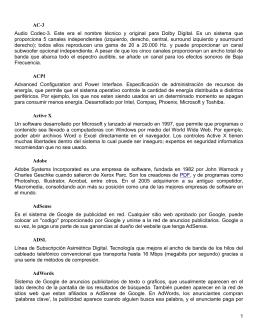 Glosario de Términos de Redes - Escuela de Ingeniería Electrónica