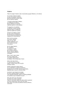 Frijolero Tekst til sangen Frijolero (den mexicanske gruppe Molotov