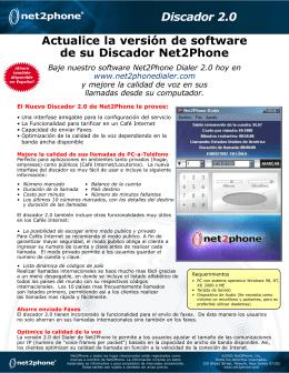 Actualice la versión de software de su Discador Net2Phone