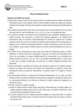 nomenclatura iupac para alcanos