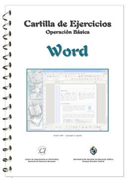 Cartilla Ejercicios Word 97 Basico v2007