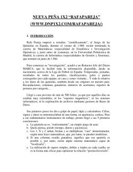 """NUEVA PEÑA 1X2 """"RAFAPAREJA"""" (WWW.DNP1X2.COM"""