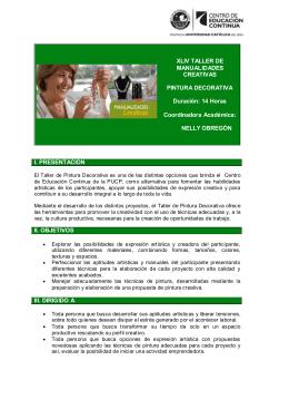 XLIV TALLER DE MANUALIDADES CREATIVAS PINTURA