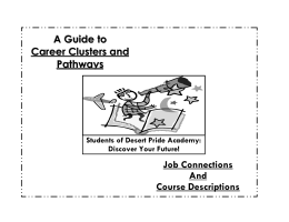 A Guide to Career Clusters and Pathways Job Connections And