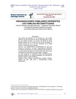 organizaciones familiares diferentes las familias reconstituidas