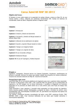 Curso AutoCAD MAP 3D 2013