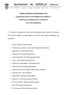 acta concurso completa - Biblioteca Municipal de Godella