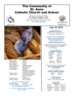 July 26, 2015 - St. Anne Catholic Community