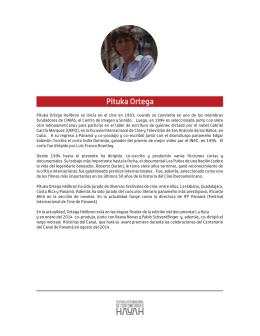 Pituka Ortega - Festival Internacional de Cortometrajes Hayah 2015