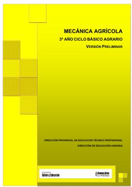 MECÁNICA AGRÍCOLA - Instituto Agropecuario de Monte