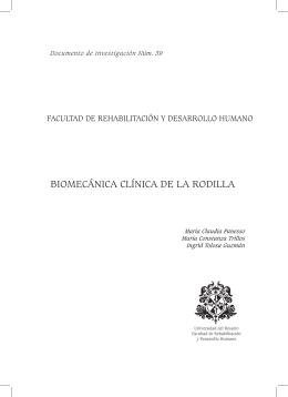 BIOMECÁNICA CLÍNICA DE LA RODILLA