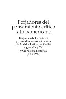 Forjadores del pensamiento crítico latinoamericano