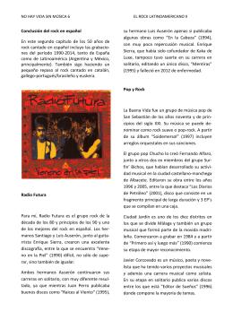 No hay vida sin música 6 - El Rock Latinoamericano