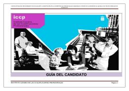 GUÍA DEL CANDIDATO - Gobierno de Canarias