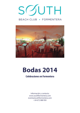 Bodas 2014 - South Beach Club Formentera
