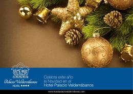 Celebra este año la Navidad en el Hotel Palacio Valderrábanos