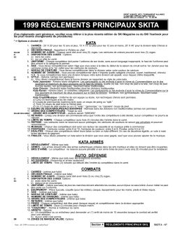 1999 RÉGLEMENTS PRINCIPAUX SKITA