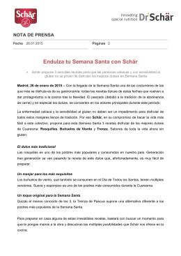 PDF Endulza tu Semana Santa con Schär