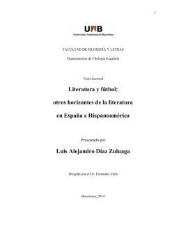 Literatura y fútbol: otros horizontes de la literatura en España e
